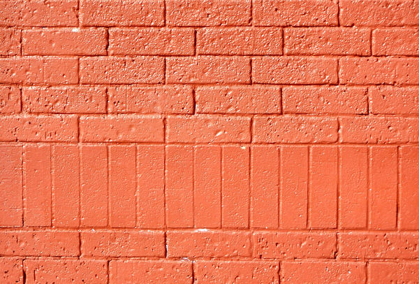 wall textures & colors 5: colours, textures and variations in modern brick wall - painted red