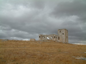 Ruined castle: cloudy day ruin. teba,andalucia