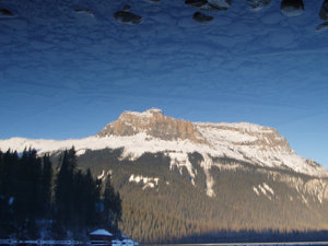 Mirror Mirror 3: Emerald lake nestled in the Rocky Mountains of British Columbia, Canada.