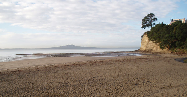 Dormant Volcano 1: View of Mt. Rangitoto from Browns Bay, North Shore, Auckland, New Zealand.