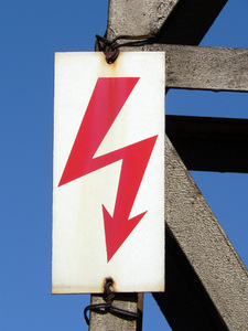 electricity: electricity  sign