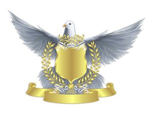 Dove Sheild Weiß Wallpaper: