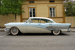 Retro Car: Old american luxury retro car