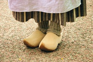Wooden Shoes: Wooden shoes from Grand Pre Historic Site, Grand Pre, Nova Scotia, Canada