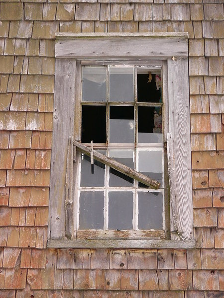 Broken: Old window in old house