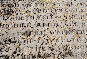Ancient Grave 3: Decaying tombstone texture.
