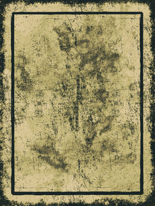 Parchment Border 6: Grungy parchment background illustration with border.