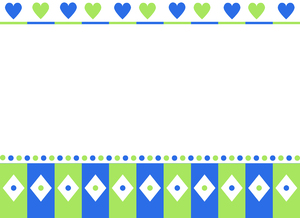 Hearts and Diamonds Frame: A cute frame with hearts and diamonds on a white background.