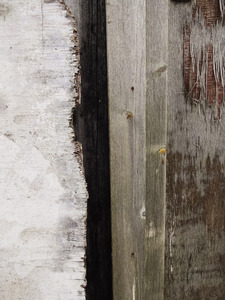 Grunge on Grunge: Three layers of grungy wood.