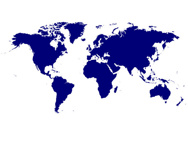 Geen franje World Map: