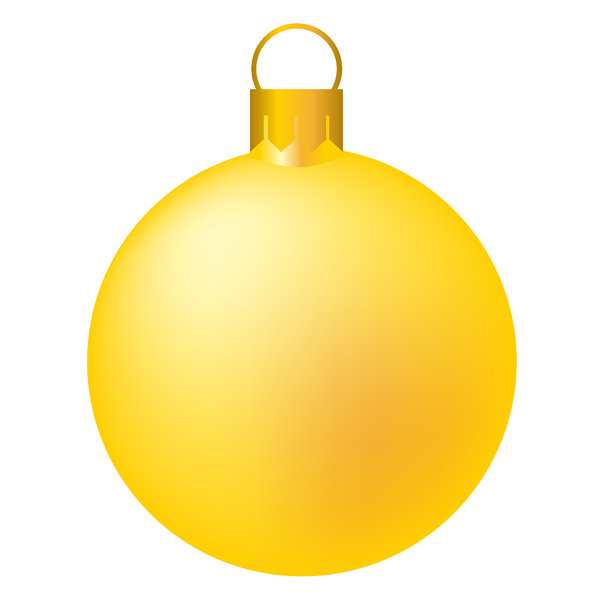 Christmas Tree Bauble 6: Isolated bauble on a white background.