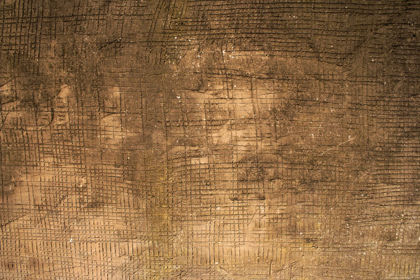 Urban Grunge: A grungy rendered wall with deeply scored crosshatching.