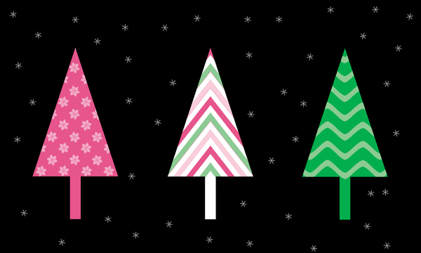 Patterned Conifer Banner: Abstract Christmas tree banner