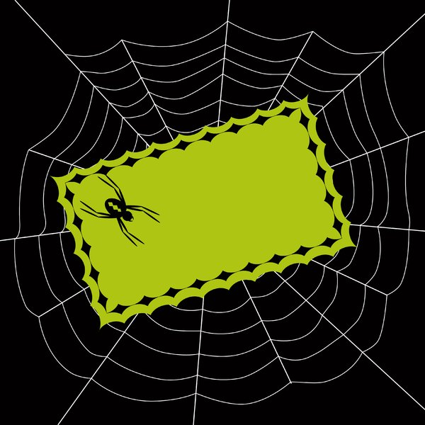 Halloween Invite: Spooky spider invitation.