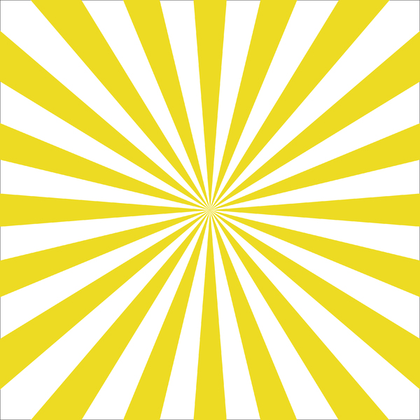 Yellow Sunburst: A brightly coloured sunburst background icon.