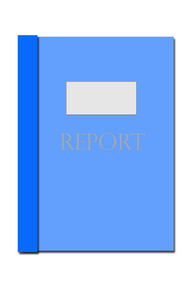 Report Folder: Blue office style report folder