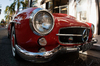 Classic 1950's Red European  s: Classic 1950's Red European  sports car