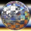 Metallic Sphere: A burnished silver metallic sphere or orb, with geometric panels and gaps. Could be a disco ball.