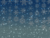 Stars Snowflakes Background 1: Sparkly stars and snowflakes on a coloured background. Great Christmas atmosphere.