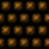 3D Tile 1: Gold or bronze tiles on black background with a 3d effect.