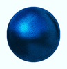 Blue Textured Sphere: A high resolution blue textured sphere, orb, ball or round shape. Three dimensional and shiny.