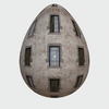 Egg House 1: A graphic building on an egg shape. You may prefer:  http://www.rgbstock.com/photo/o8ZhkCk/Old+Building+2  or:  http://www.rgbstock.com/photo/2dyWqc5/House+1