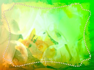 Lemon and Lime Coloured Grunge: Lemon and Lime floral grungy background with pearls or pearl shapes.