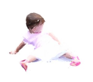 Child : Digital painting of a little girl, made from a photo I took. Useful for illustration of innocence, childhood, child abuse, family, family violence, etc.