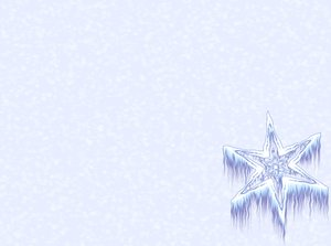 Icy Snowflake 1: Winter snowflake or star against a plain or snowy background. Plenty of copyspace.