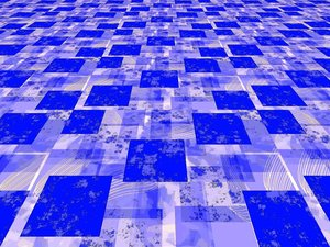Blue Perspective: A floating grunge pattern in blue. Useful for backgrounds, fills, etc.