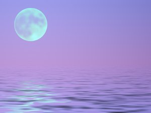 Full Moon Over Water 2: Romantic graphic of a moon over water. Might be able to be used for Halloween.