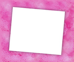You're Invited 2: Blank notecard in pink shades suitable for an invitation, banner, birthday, congratulations - many uses. White blank area against a textured pastel background.
