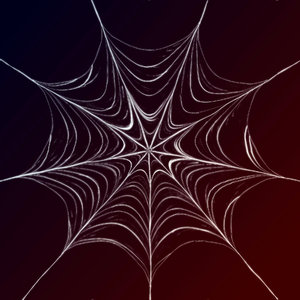 Spider's Web 2: Graphic spiderweb on a dark gradient of black and brown. Useful background for halloween, etc.