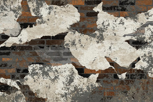 Grunge Brick Wall 1: A grungy, plastery, broken wall. Will make a great background or texture.