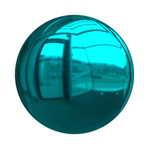 Christmas Baubles 2: Decorative Christmas bauble or ball in aqua or blue-green with a shiny and reflective surface.