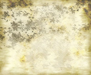 Grunge Leaves Background: A background, paper or parchment of sepia and grey with a leafy pattern. The original pattern was free for commercial use but I don't remember the site. Has been heavily edited.