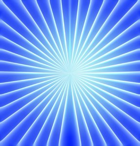 Blue Sunburst: A blue sunburst suitable for a texture, background, fill, etc.