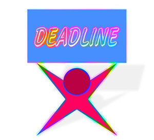 Deadline: A graphic illustration of being weighed down by a deadline.