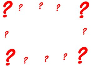 Question Mark Frame: Question marks make a frame for a banner or image.