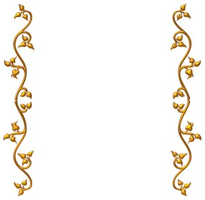 Golden Vine Border 3: An ornate golden frame or border on a white background. Perhaps you would prefer this: http://www.rgbstock.com/photo/nvi0UW8/Golden+Ornate+Border+2