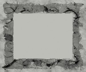 Wild Frame or Border 4: A grungy, decorative frame or border with swirling vines and branches (from a public domain image). You may prefer this: http://www.rgbstock.com/photo/nUjacjK/Grungy+Border+2