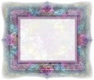 Reflective Grunge Frame 2: A grungy reflective 3d frame with a plaster effect in the centre.