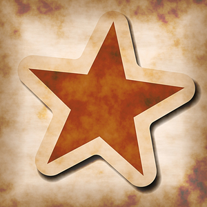 Grunge Star Sticker: A grungy star sticker on a grungy background. Hi-res image.You may prefer this:  http://www.rgbstock.com/photo/nrDRQB4/Star+Sticker+4  or this:  http://www.rgbstock.com/photo/nrDSyla/Star+Sticker+1