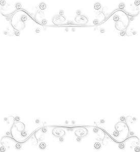 Ornate Metallic Border 4: A silver metallic ornate swirly border or frame on a white background. You may prefer this:  http://www.rgbstock.com/photo/nXQED7M/Golden+Ornate+Border+6  or this:  http://www.rgbstock.com/photo/nvi0UW8/Golden+Ornate+Border+2