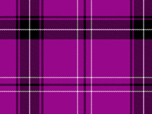 Tartan or Plaid 3: A tartan or plaid pattern in the following colours: purple or pink, white and black.
