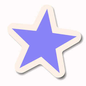 Star Sticker 4: A blue or violet pastel star sticker with a white border. Makes a great attention-getting announcement bubble, price tag or label.
