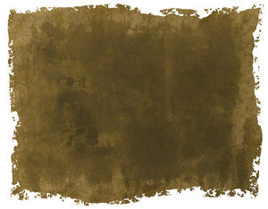 Torn Parchment 1: A grunge parchment or paper background with torn edges, in canvas colours. White background.