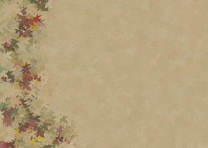 Decorated Parchment 6: A background of parchment decorated with a leafy border.