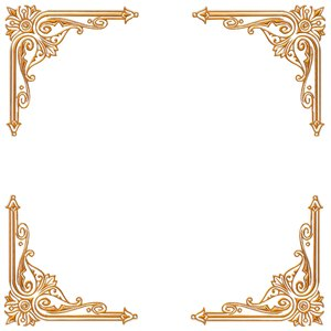 Golden Ornate Border 18: A golden ornate border or frame on a plain white background. Very elegant and old fashioned in a classic style. You may prefer this:  http://www.rgbstock.com/photo/nvi0UW8/Golden+Ornate+Border+2  or this:  http://www.rgbstock.com/photo/nL3g19U/Golden+Vine