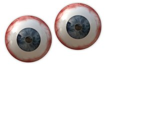 Here's Looking At You: A pair of disembodied bloodshot eyes. Can be funny, cute, spooky. Attention-getting for a banner, flyer, advertisement or background.